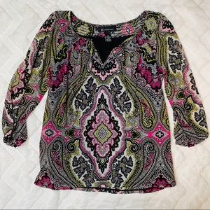 INC International Concepts Patterned Blouse